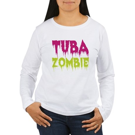 Tuba Zombie Women's Long Sleeve T-Shirt