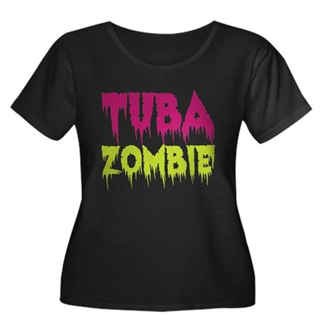 Tuba Zombie Women's Plus Size Scoop Neck Dark T-Sh