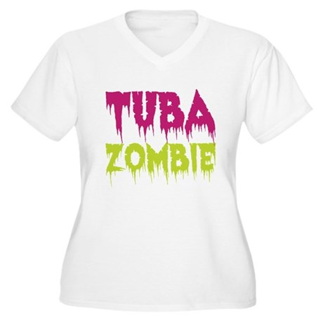 Tuba Zombie Women's Plus Size V-Neck T-Shirt