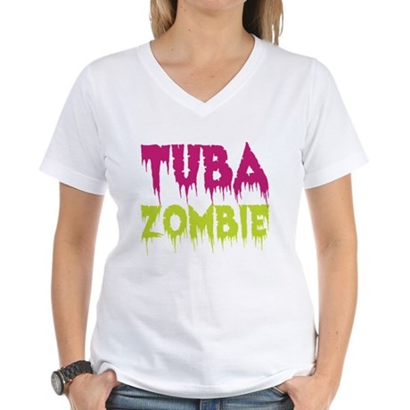 Tuba Zombie Women's V-Neck T-Shirt