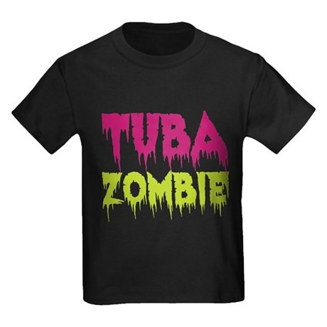 Tuba Zombie Kids Dark T-Shirt
