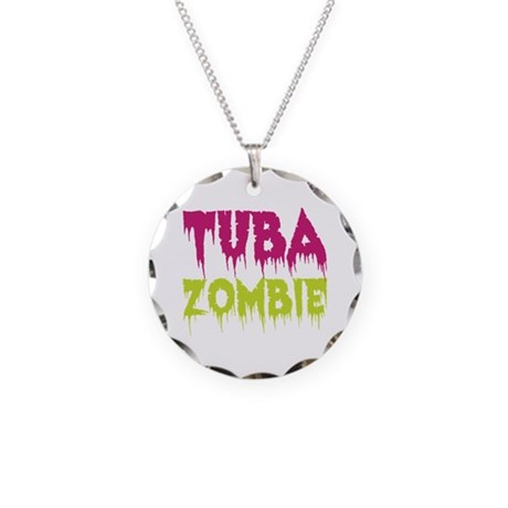Tuba Zombie Necklace Circle Charm