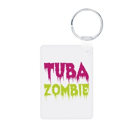 Tuba Zombie Aluminum Photo Keychain
