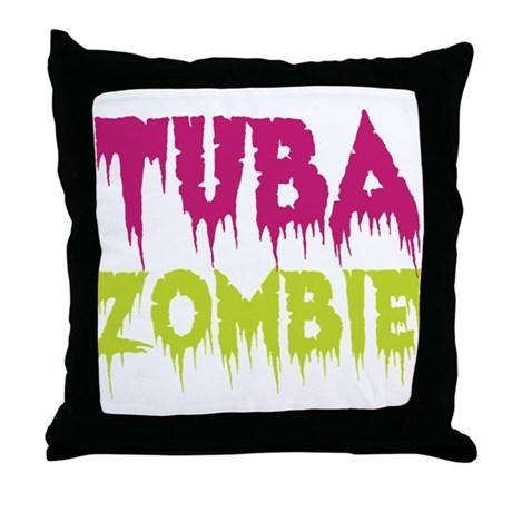 Tuba Zombie Throw Pillow