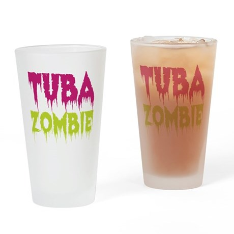 Tuba Zombie Drinking Glass