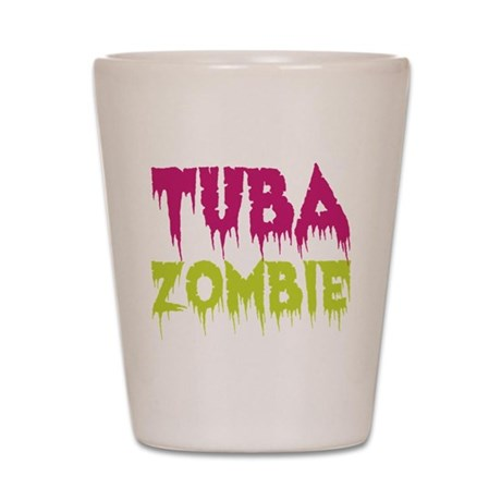 Tuba Zombie Shot Glass