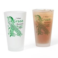 I Wear Green I Love My Daught Drinking Glass