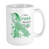 I Wear Green I Love My Daught Mug