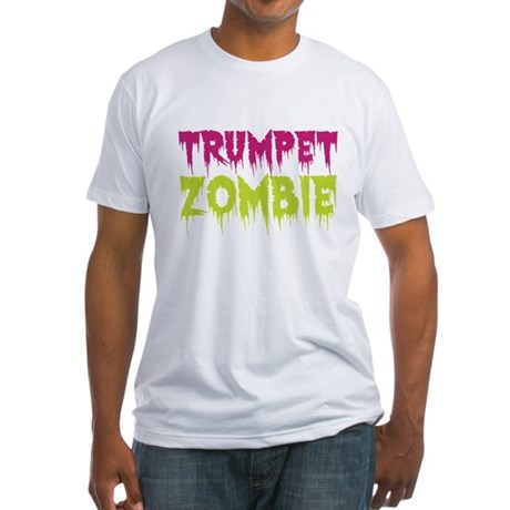 Trumpet Zombie Fitted T-Shirt