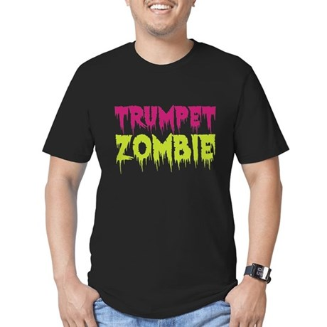 Trumpet Zombie Men's Fitted T-Shirt (dark)