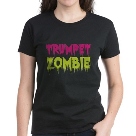 Trumpet Zombie Women's Dark T-Shirt
