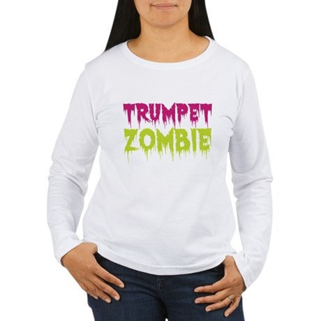 Trumpet Zombie Women's Long Sleeve T-Shirt