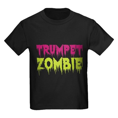 Trumpet Zombie Kids Dark T-Shirt
