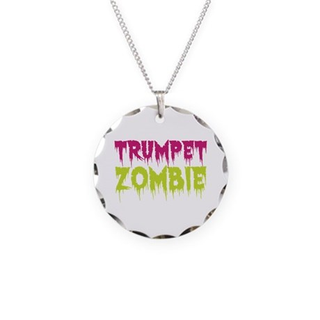 Trumpet Zombie Necklace Circle Charm