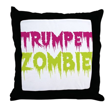 Trumpet Zombie Throw Pillow