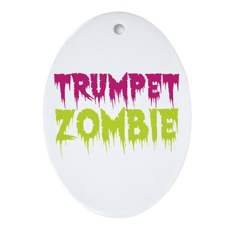Trumpet Zombie Ornament (Oval)