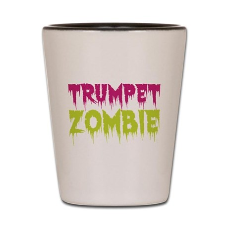 Trumpet Zombie Shot Glass