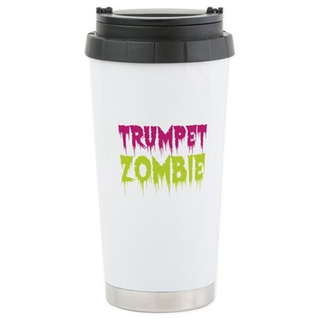 Trumpet Zombie Ceramic Travel Mug