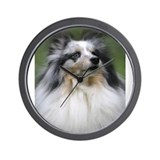 Cute Shetland sheepdog Wall Clock