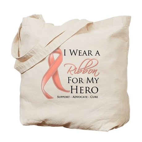 Hero Uterine Cancer Tote Bag