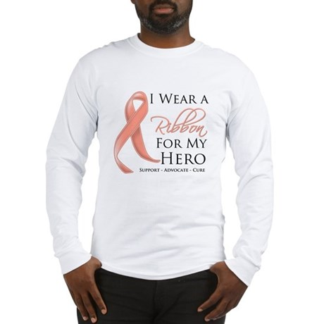 Hero Uterine Cancer Long Sleeve T-Shirt
