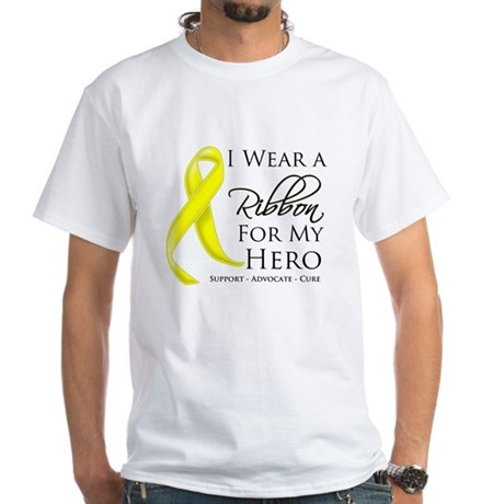 Hero Testicular Cancer White T-Shirt