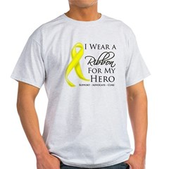 Hero Testicular Cancer Light T-Shirt