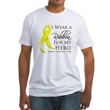 Hero Testicular Cancer Fitted T-Shirt