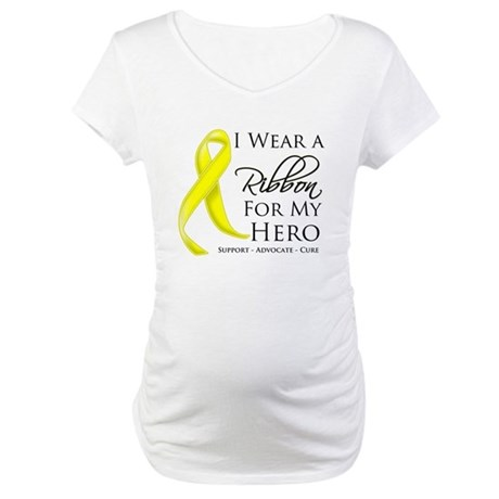 Hero Testicular Cancer Maternity T-Shirt