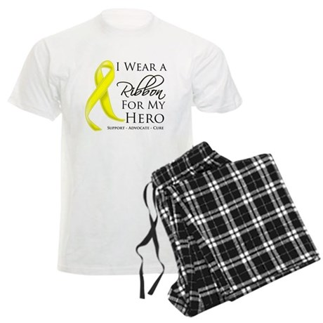 Hero Testicular Cancer Men's Light Pajamas