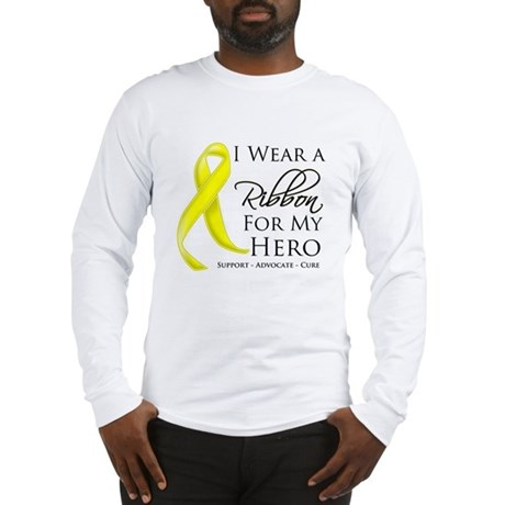 Hero Testicular Cancer Long Sleeve T-Shirt