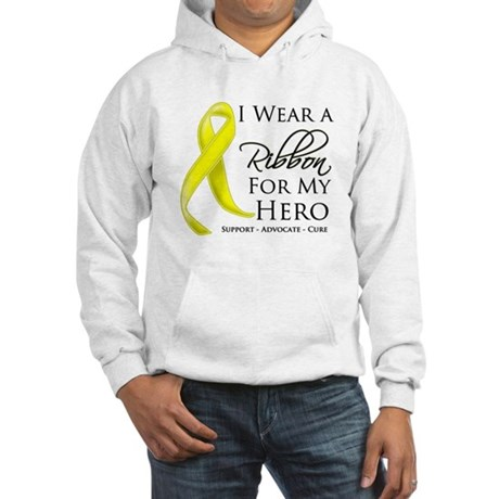 Hero Testicular Cancer Hooded Sweatshirt