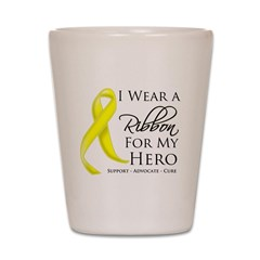 Hero Testicular Cancer Shot Glass