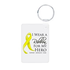 Hero Testicular Cancer Aluminum Photo Keychain