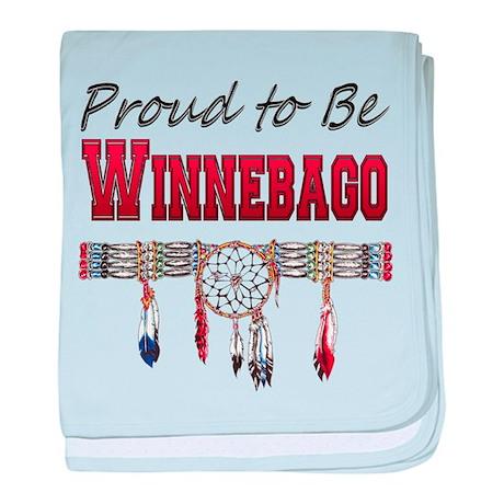 Proud to be Winnebago baby blanket