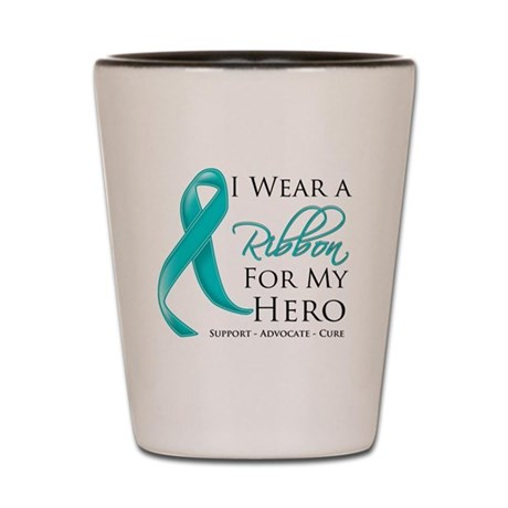 Hero Ribbon Cancer Shot Glass