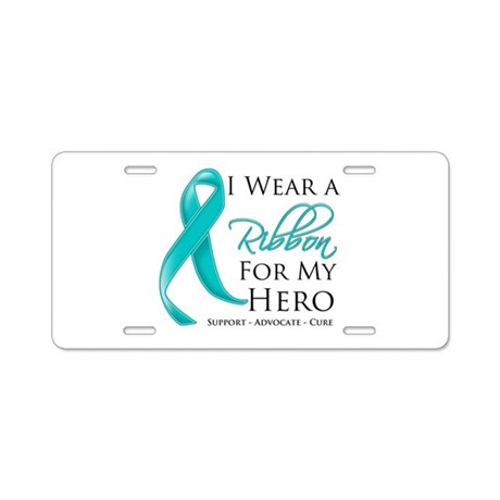 Hero Ribbon Cancer Aluminum License Plate
