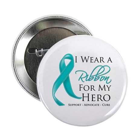 "Hero Ribbon Cancer 2.25"" Button"