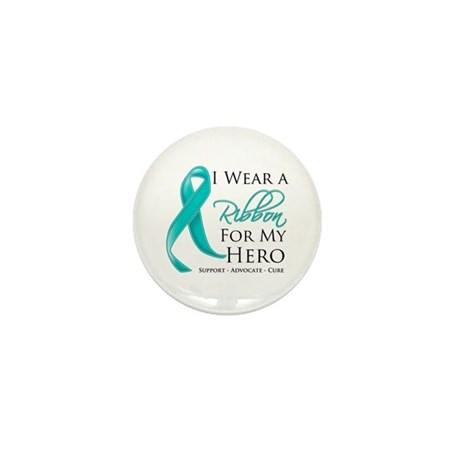 Hero Ribbon Cancer Mini Button (100 pack)