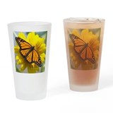 Sunflower Monarch Drinking Glass