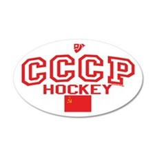 CCCP Soviet Hockey C 38.5 x 24.5 Oval Wall Peel