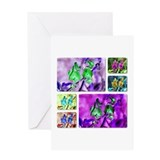 Montage (Wild Sweet Pea) Greeting Card