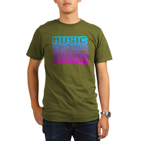 Music Is My Drug Organic Men's T-Shirt (dark)