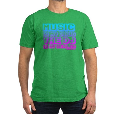 Music Is My Drug Men's Fitted T-Shirt (dark)