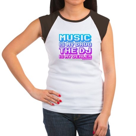 Music Is My Drug Women's Cap Sleeve T-Shirt