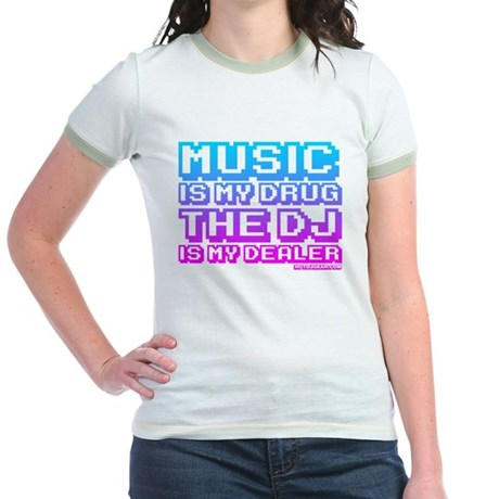 Music Is My Drug Jr. Ringer T-Shirt