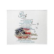 God bless America: Throw Blanket