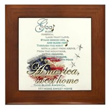 God bless America: Framed Tile