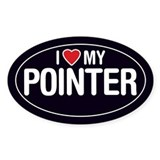 I Love My Pointer Oval Sticker/Decal