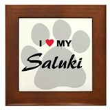 I Love My Saluki Framed Tile